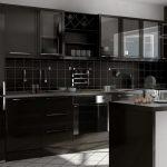 Фото 65: Черная кухня