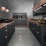 Фото 64: Черно-медная кухня