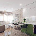 Фото 71: Дизайн кухни-гостиной в стиле минимализм