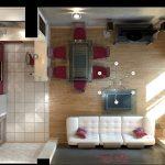 Фото 72: Дизайн проект кухни-гостиной