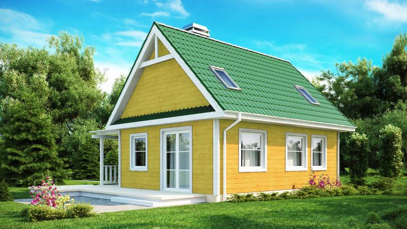 Маленький дом 6 на 8