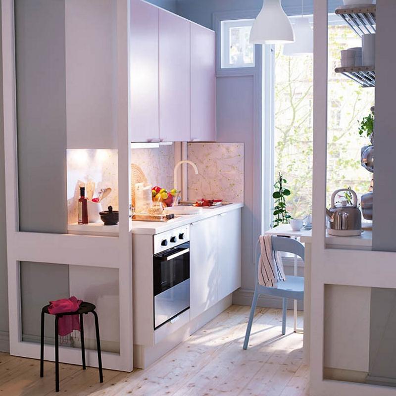 Раздвижные двери для маленькой кухни