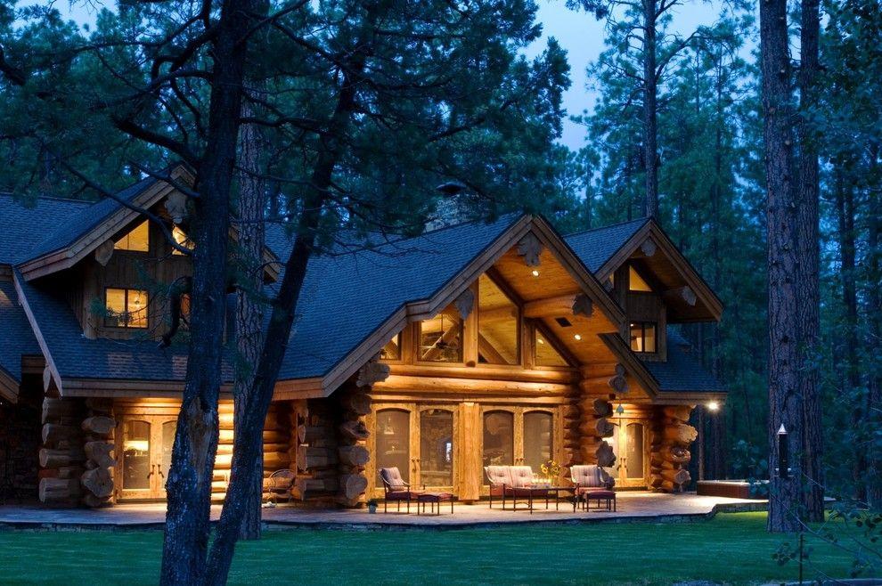 Экологичный дом из бревна