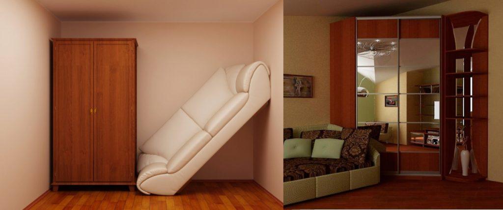 Экономия пространства со шкафом-купе