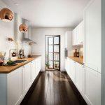 Фото 69: Гарнитур для узкой кухни