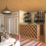 Фото 40: Сочетание потолка грильято с элементами декора квартиры
