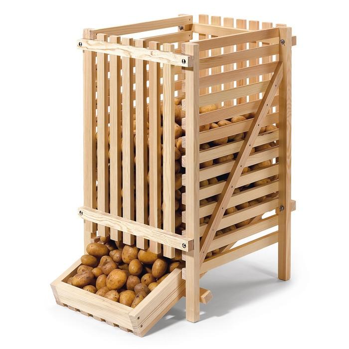 Фото 10: Хранение картофеля в ящиках