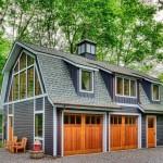 Фото 25: Дизайн гаража на две машины из дерева