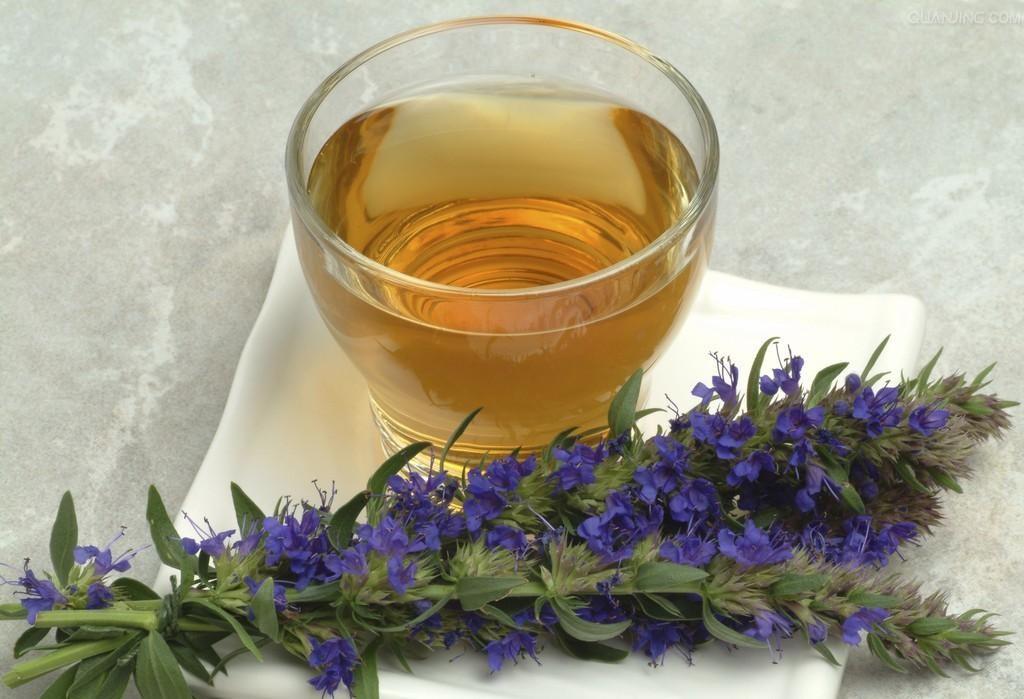 Чай с иссопом помогает бороться с кашлем
