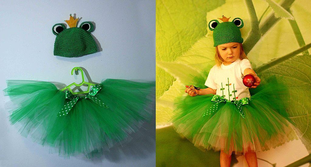 Костюм лягушки для девочки с юбкой - пачкой