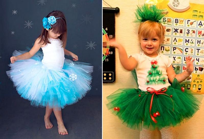 Новогодние костюм для девочки сшить своими руками 479