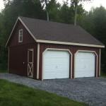 Фото 18: Бардовый металлический гараж