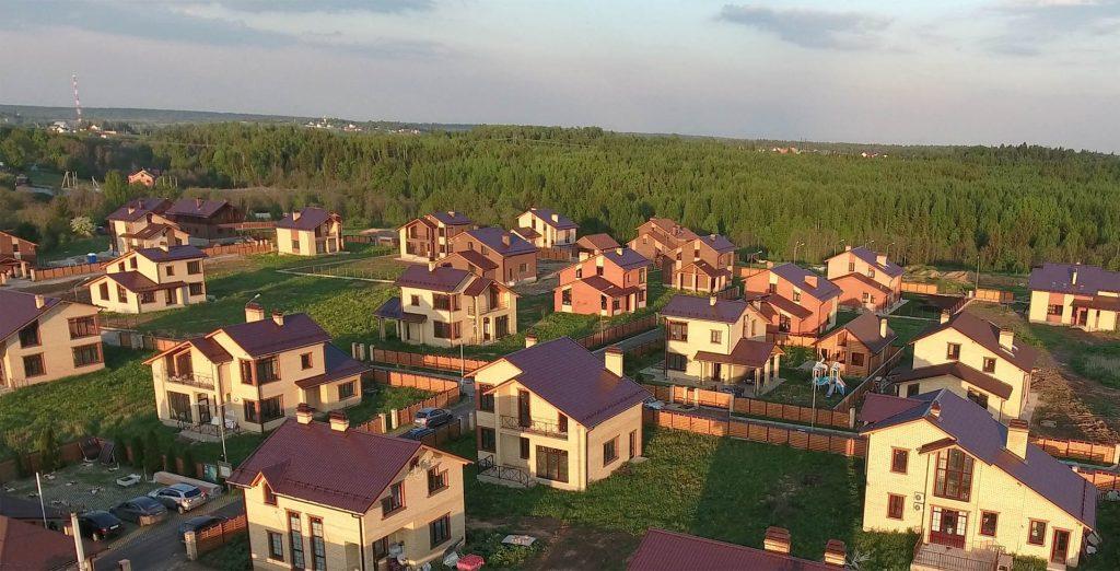 Коттеджный поселок Мишкин лес фото сверху