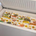 Морозильная камера замороженных овощей