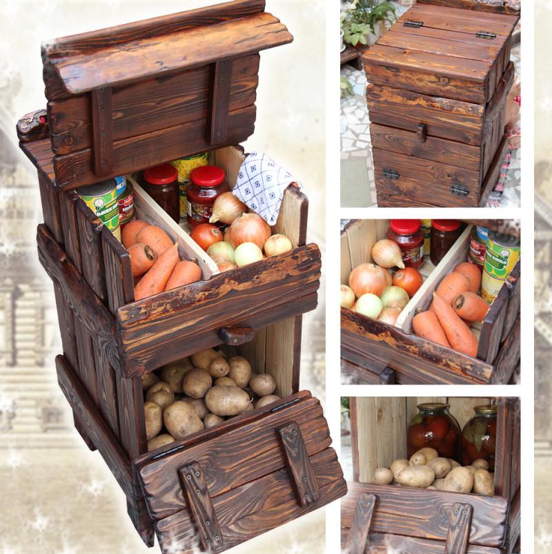 Хранение овощей на балконе в многофункциональных ящиках