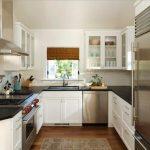 Фото 82: П-образная маленькая кухня
