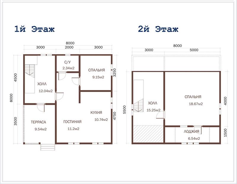 Фото 28: Схема дома 8x8