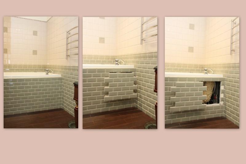Фото 18: Скрытый люк под ванной нажимной сдвижной