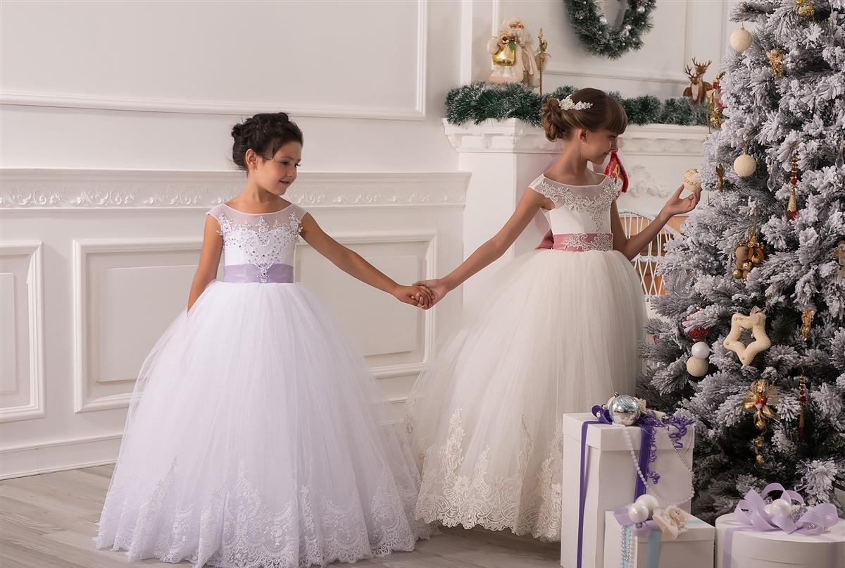 Пышные новогодние платья для девочек