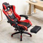 Фото 34: Игровое кресло с подставкой для ног