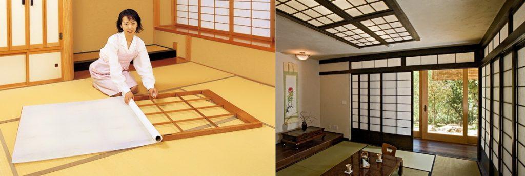 Японские двери–перегородки