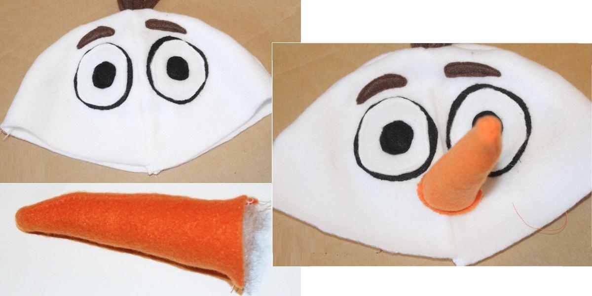 Шапочка снеговика своими руками