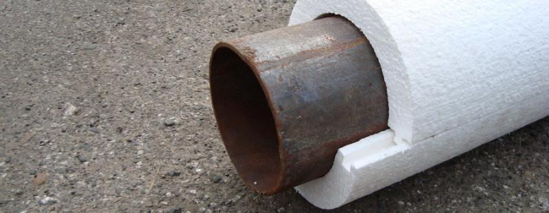 Пенопластовая скорлупа для утепления труб