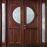 Фото 16: Дверь двойная со стеклянными вставками