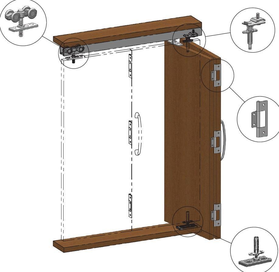 Строение двери–гармошки