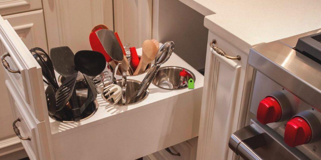 Удобное хранение кухонных атрибутов