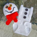 Фото 32: Вязаный костюмчик снеговика