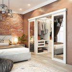 Фото 53: Зеркальные двери в гардеробную