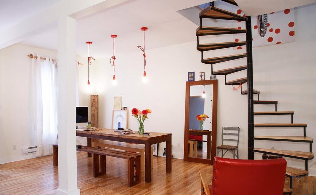Винтовая лестница без перил