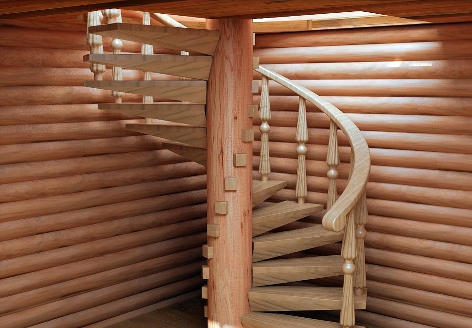 Деревянные лестницы на второй этаж своими руками винтовые