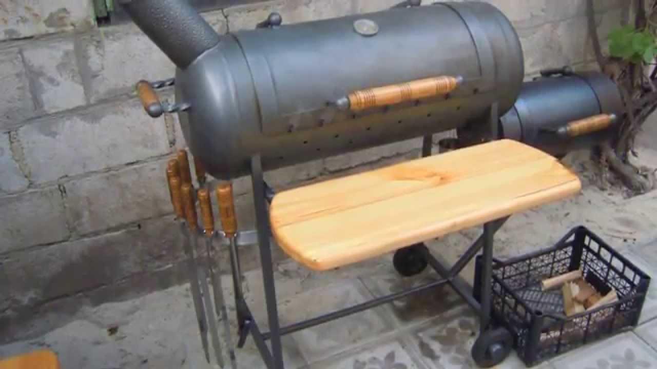 Мангалы барбекю из газового баллона своими руками