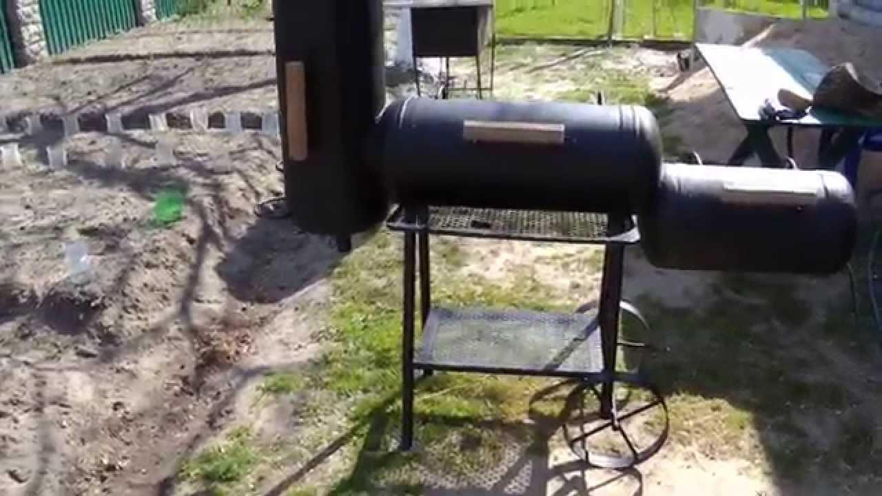 Мангал коптилка из газового баллона