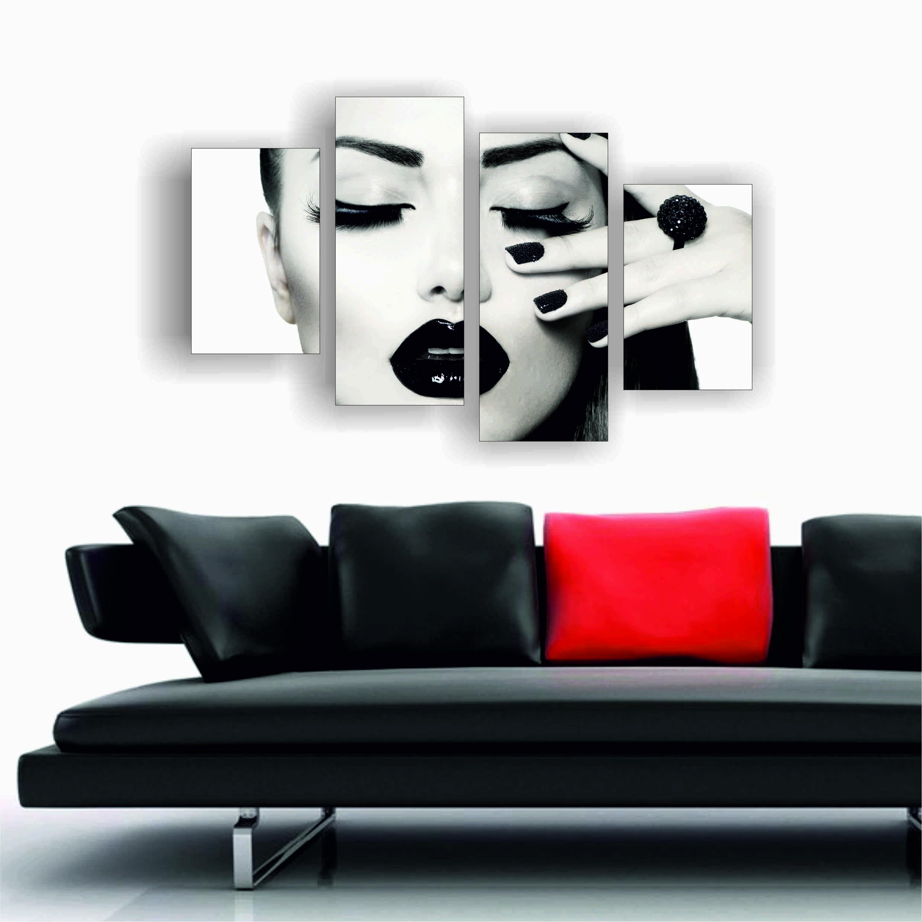 Чёрно-белые картины для интерьера своими руками