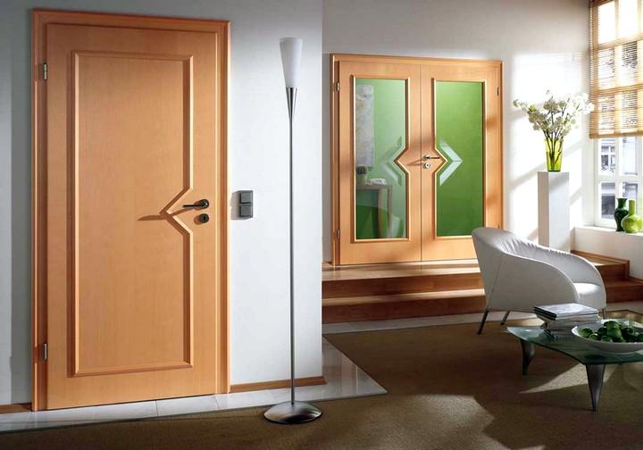 Двери цвет бук в интерьере фото
