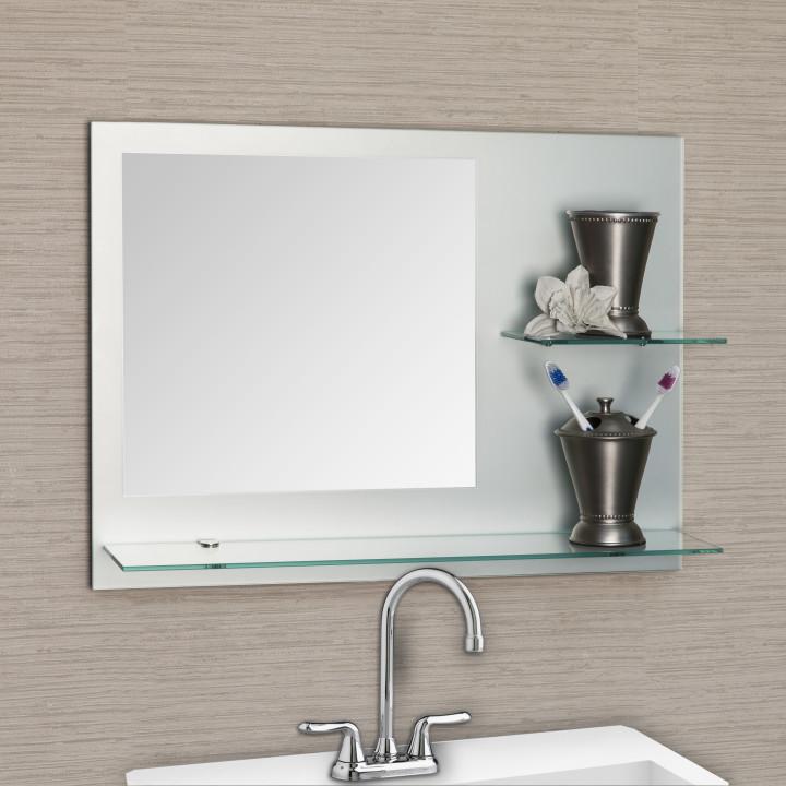 полка для ванны с зеркалом