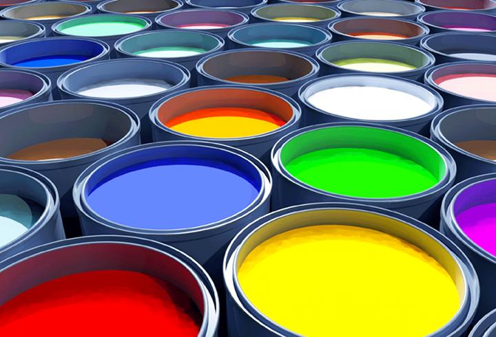 Разнообразие красок для обоев