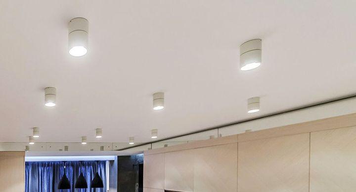 Размещение точечных накладных светодиодных светильников