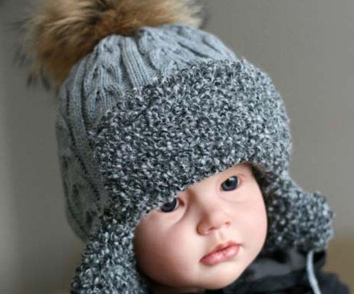 Стильная и теплая ушанка для ребенка