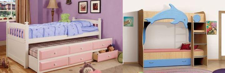 Двухярусные кровати с ящиками для детей