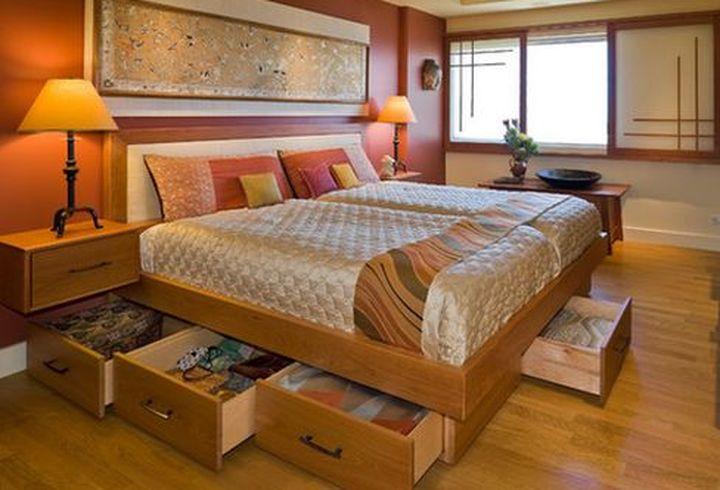 Функциональные ящики для кровати