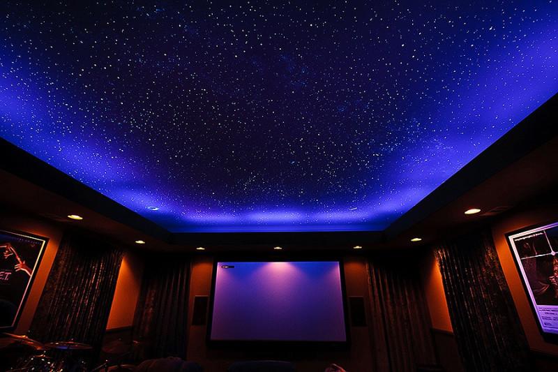 """Фото 29: Натяжной потолок """"звездное небо"""""""