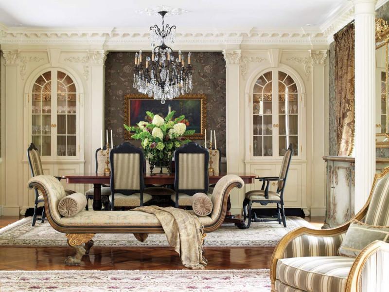 Фото 18: Мягкая ажурная мебель в классическом интерьере