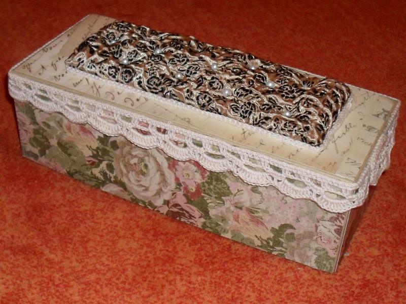 Декор коробок тканью
