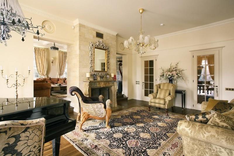 Фото 20: Современная гостиная в классическом стиле