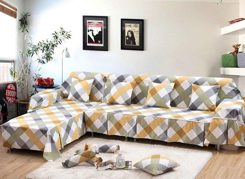 Фото 14: Геометрический чехол на диван