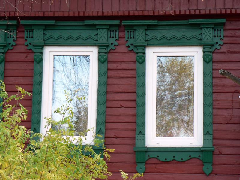 Фото 12: Зеленые наличники